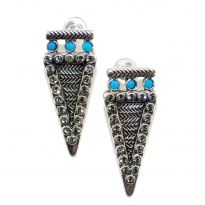 Spiked Turquoise Earrings - A & C