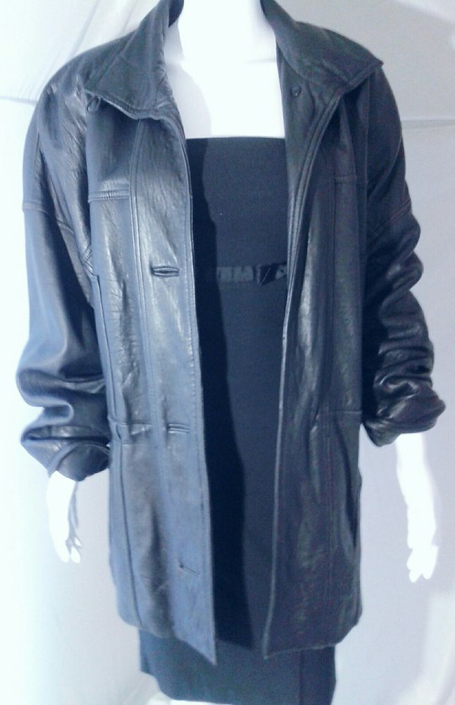 Colebrook & Co. Black Leather Coat, Womens Small | Clothing, Shoes & Accessories, Women's Clothing, Coats & Jackets | eBay!