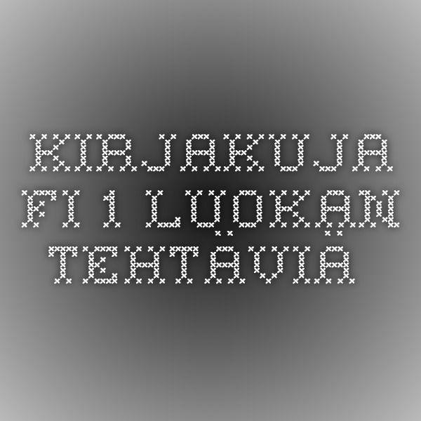 Kirjakuja.fi - 1. luokan tehtäviä.