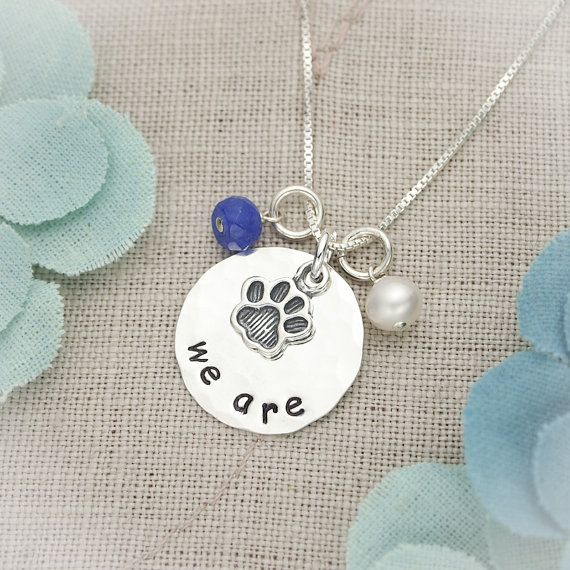 Hand Stamped Sterling Silver Disc Penn State by TracyTayanDesigns, $39.95