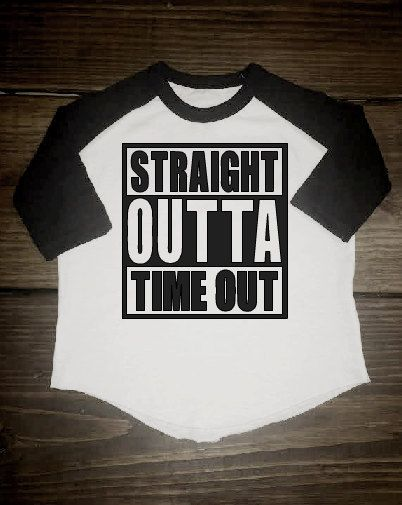 STRAIGHT OUTTA TIMEOUT, toddler raglan, toddler baseball tee, shirt, baby raglan, baby baseball, funny toddler boy shirt, cute toddler shirt by Shop419 on Etsy
