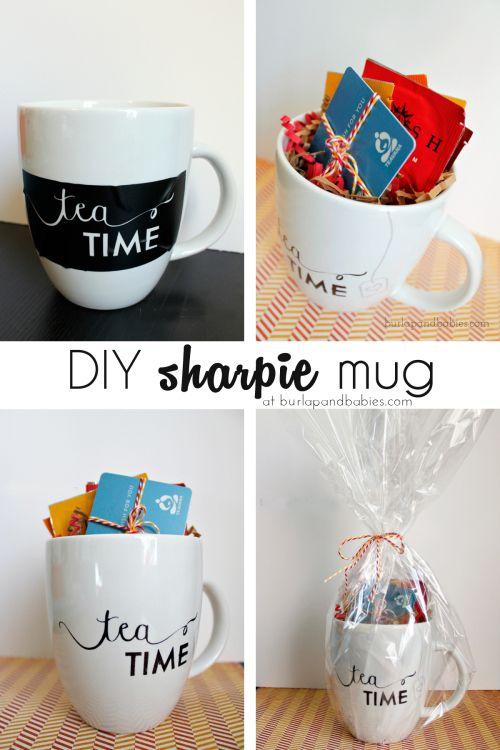 DIY Sharpie Mug – Burlap and Babies