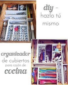DIY organizador de cubiertos para cajón de la cocina