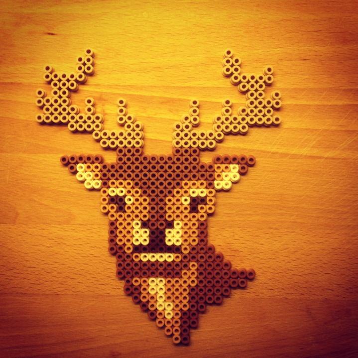 Deer hama perler by Cronoline Carosell