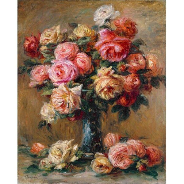 Розы в вазе. Пьер Огюст Ренуар