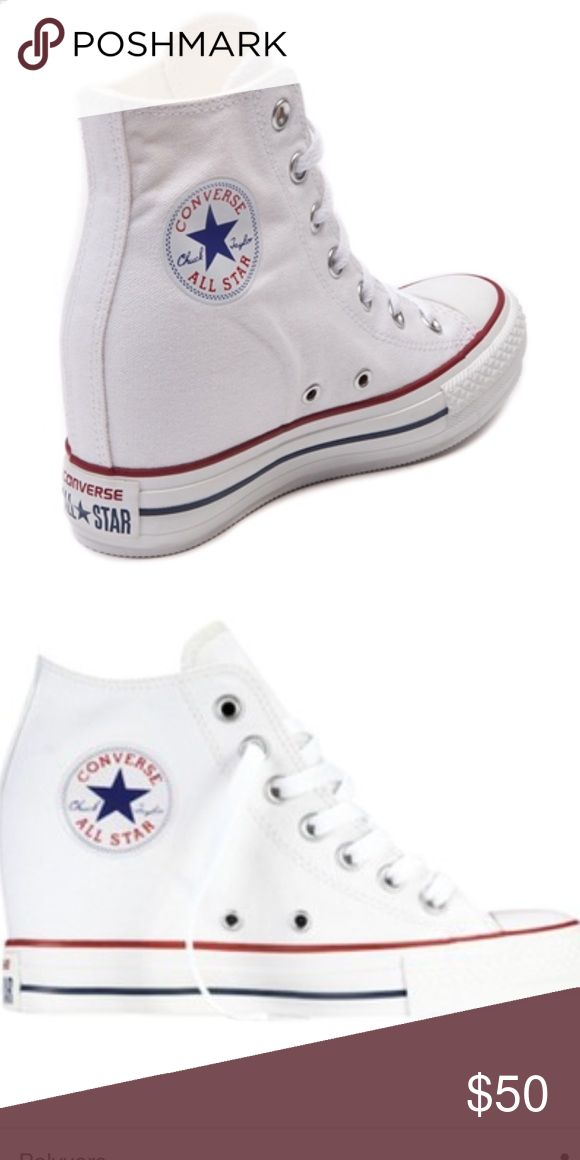 Converse wedge sneakers Brand new converse wedge sneakers shoelaces come with it Converse Shoes Sneakers