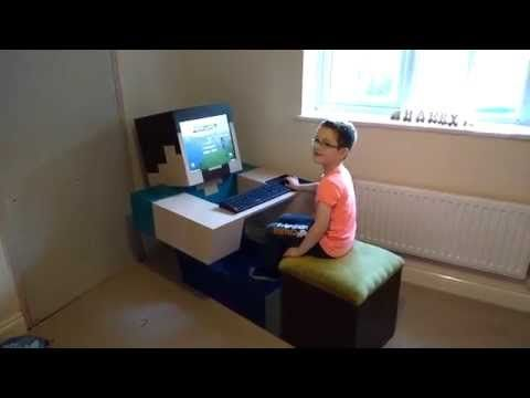 Minecraft computer; Custom made Minecraft computer for our son - YouTube