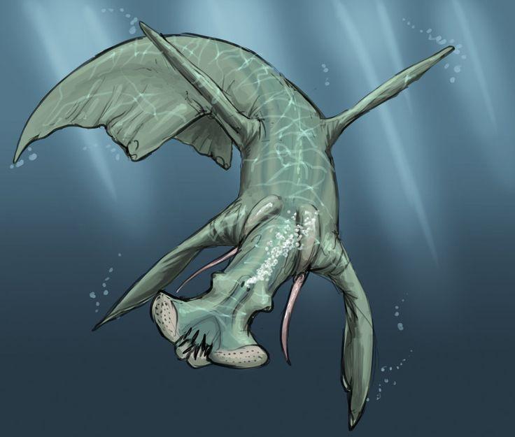 Creature concept: Q'porr an aquatic predator - SciFi Ideas