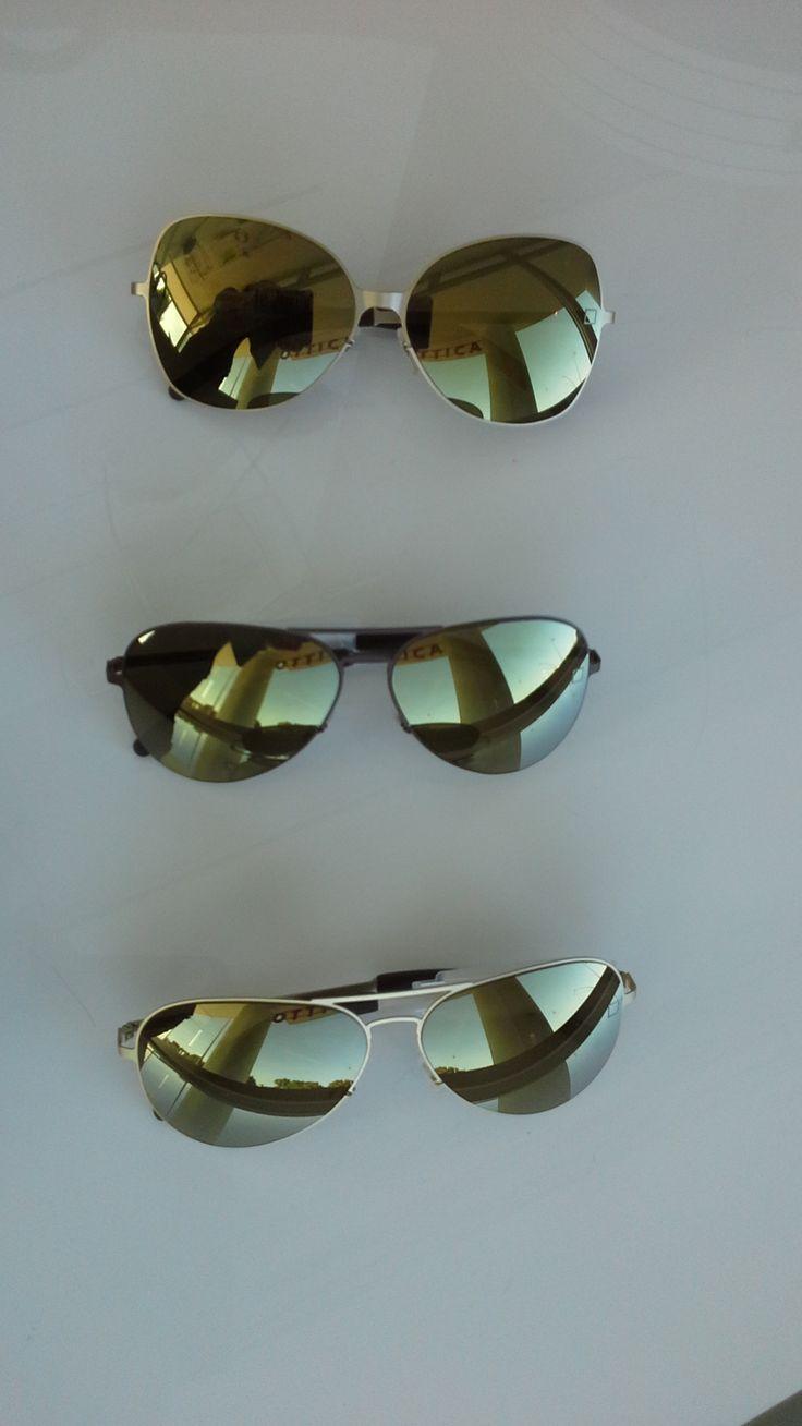 un classico per l'uomo goccia lente specchiata oro #classic #mirror #man #gold #sunglasses