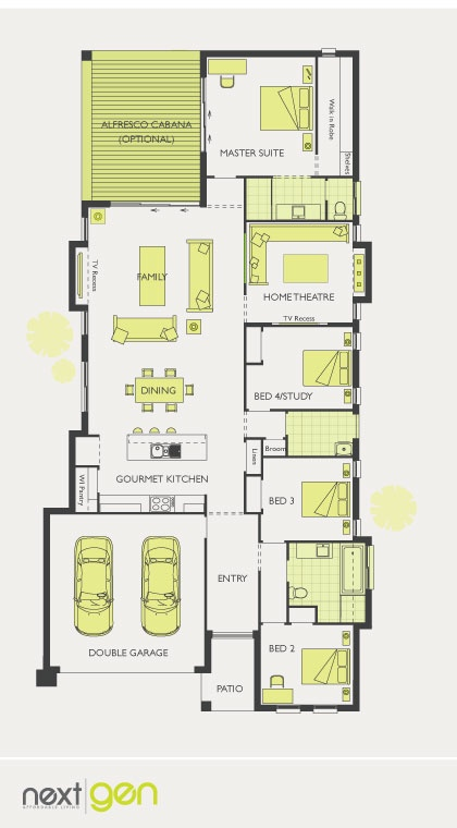 McDonald Jones Homes - Bordeaux Collection - Floorplan #Floorplans ...