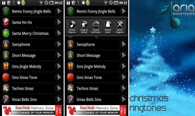Christmas Ringtones, una variada selección de tonos navideños para tu Android