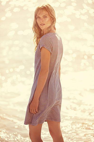 Kailia Stripe Dress www.henrilloyd.com.au