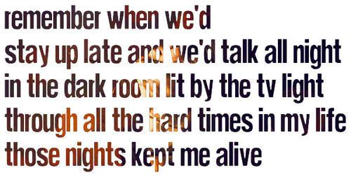 """Those Nights"" by Skillet. I love this song"