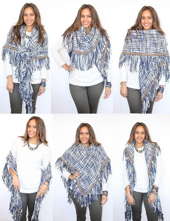 6 manieren om een omslagdoek te dragen