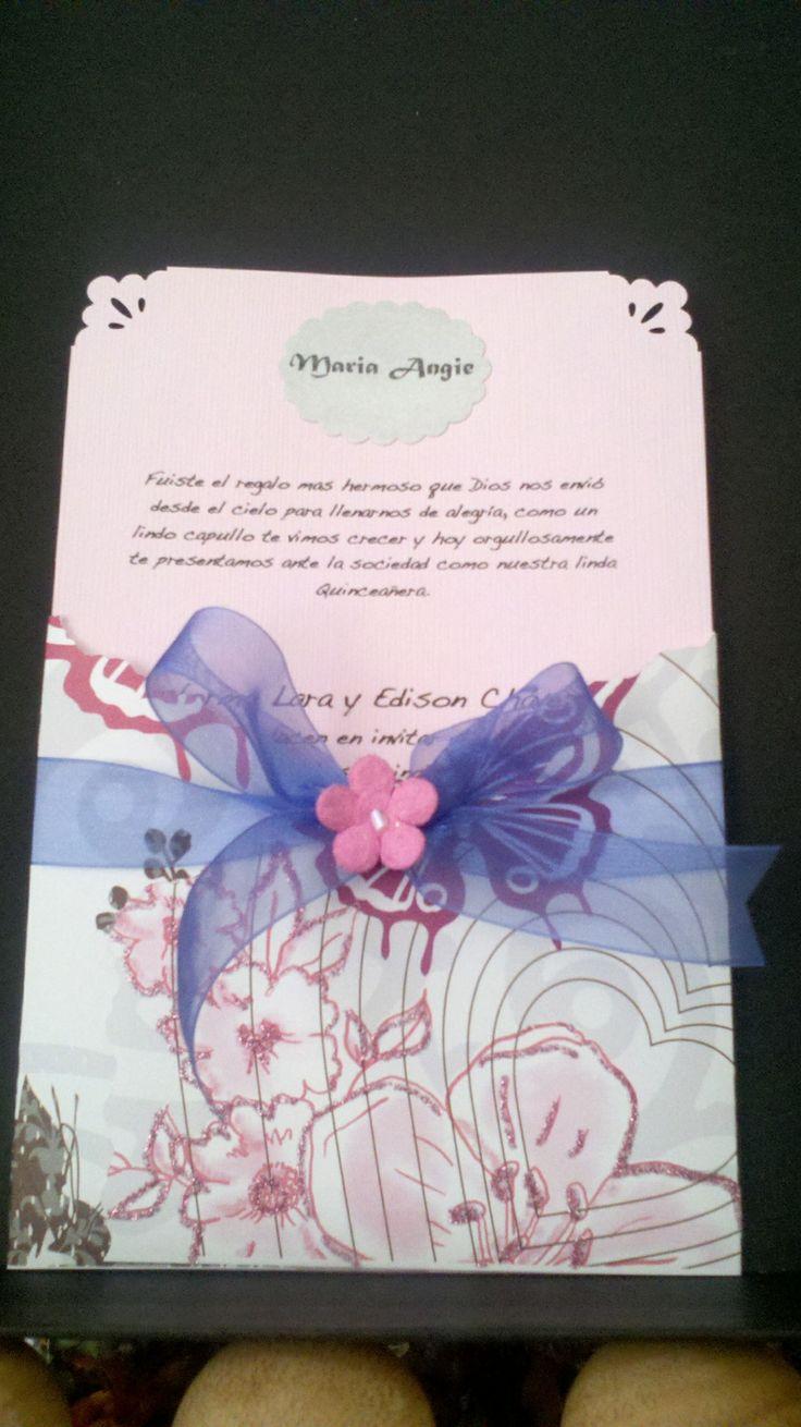 Sweet sixteen invitation Espiecreations@gmail.com