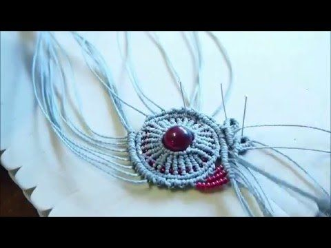 micromacrame tutorial Orbit bracelet with loop