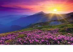 Puzzle montaña puesta de sol ( Ref:  0000019608 )