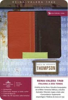 Biblia de Estudio Thompson.  Reina Valera 1960.  Naranja/Café  o Lila/Gris.