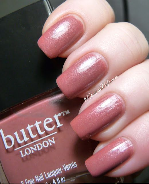 butter LONDON Aston - Swatches and Review (My favorite pink Ever- neutral but shimmery)
