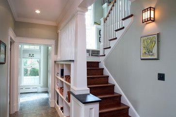 a house in a garden craftsman staircase