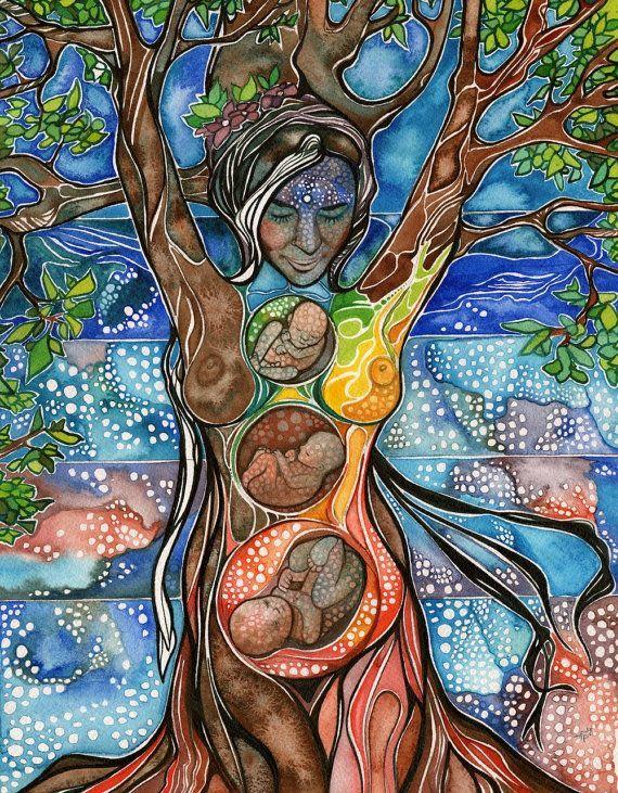 Tree of Life, beautiful natural female earth energy universe.