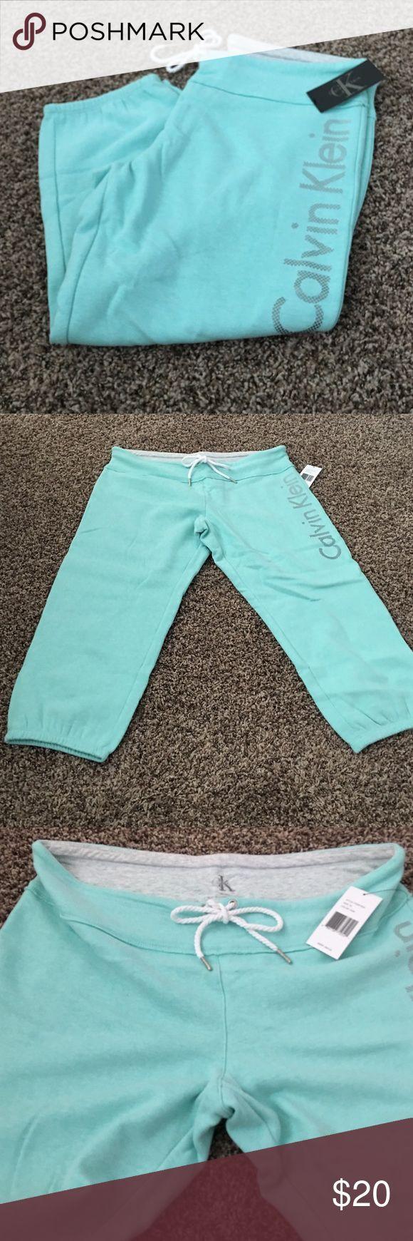 Calvin Klein Mint Capri Sweatpants XL New with tags - Calvin Klein - XL - color: aquamarine - Capri sweatpants - style: PFMP7653 Calvin Klein Pants Capris