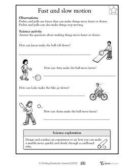 Fast And Slow Worksheets For Kindergarten Pdf