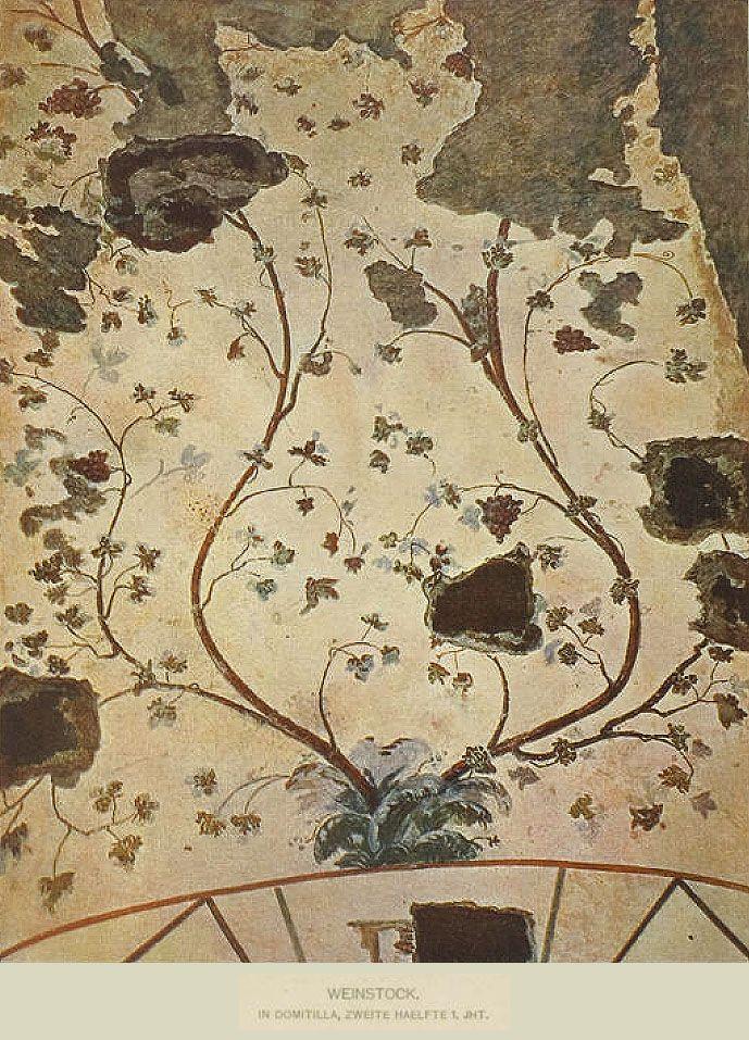 Виноградные лозы. Катакомбы Домитиллы