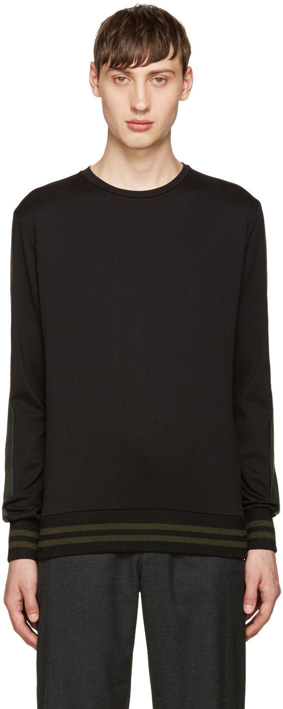 GIULIANO FUJIWARA BLACK STRIPED PULLOVER. #giulianofujiwara #cloth #pullover