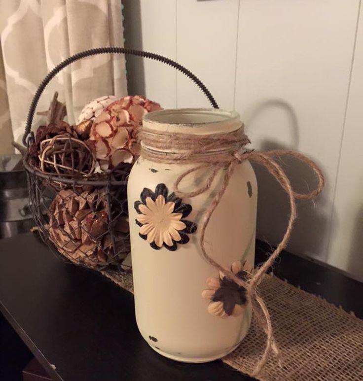 hand painted mason jars sealed for durability