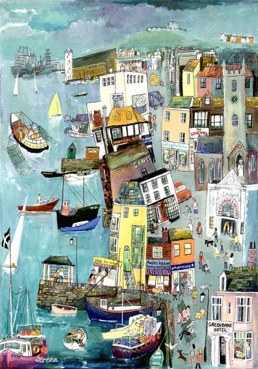 Falmouth Town (S26) - Prints - Serena - Cornwall Art Galleries