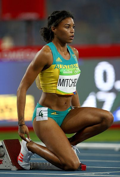 Morgan Mitchell of Australia prepares to compete in the Women's 400 meter…