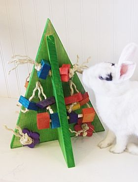 Crazy Christmas Tree Rabbit Toy : Pet Rabbit Toys, Homemade Toys for Rabbits