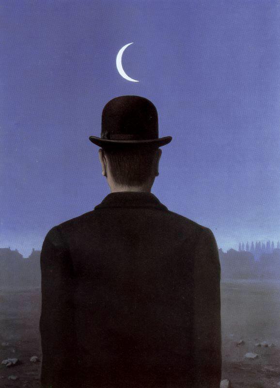 Le maître d'école, par Magritte 1954