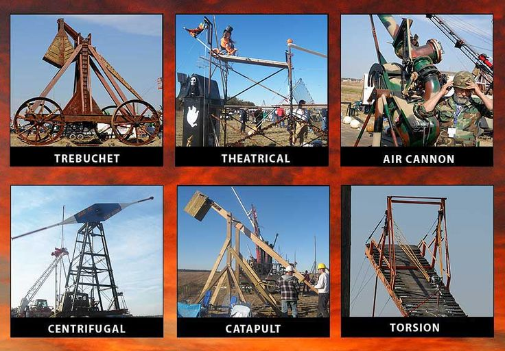 Punkin' Chunkin' missiles in Bridgeville, Delaware. Every November since 1986, a contest has been held to test mechanical ways to throw a pumpkin. Large crowds watch 72 engineering teams in different categories shoot 8- to 10-lb. pumpkins considerable distances. The pumpkins are specially cultivated to be hard so that they won't fall apart at once but can go the full distance.