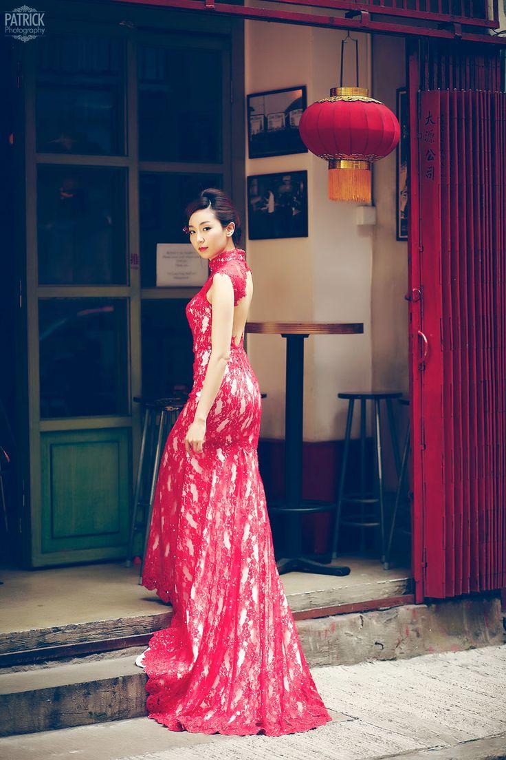 Qipao Pron  Sexy Wedding Qipao Shown The Pron Of Bride -9588