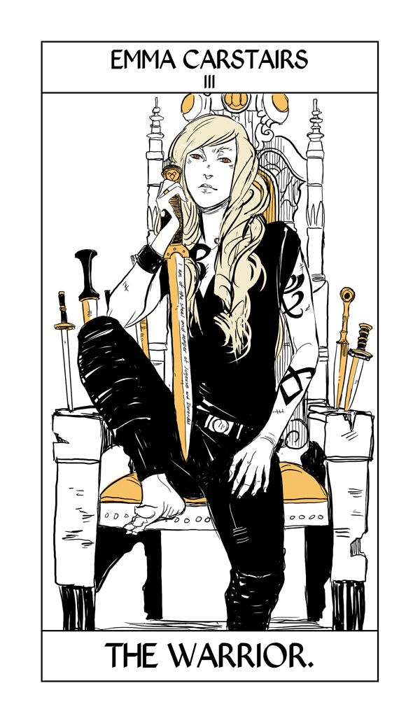 Emma Carstairs - The Warrior: Cassandra Jean: Shadowhunter Tarot Series: *Character belongs to Author Cassandra Clare and her Dark Artifices series