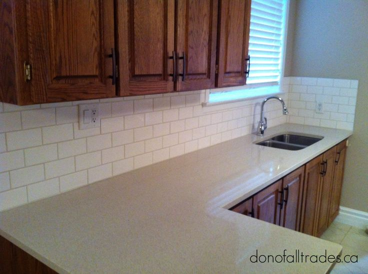 Add life to your kitchen with a Subway Tile backsplash. Let our Don Of All Trades Professional Home Maintenance Service experts install your new ceramic tile. Get a quote now!  Book your complimentary consultation today!  Call direct 905-259-5249 or email info@donofalltrades.ca. Need more information? Visit our website at www.donofalltrades.ca to find out more about our services and how we can assist you will all your home improvement needs.