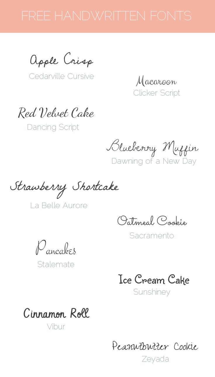 1000+ ideas about Handwritten Fonts on Pinterest | Scripts ...