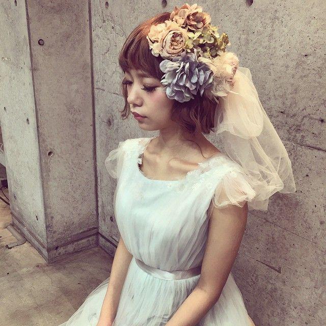短め前髪で作るブライダルヘアカタログ | marry[マリー]