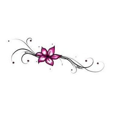 small flower tattoo really want this on my foot but dernt go for it lol - Small Designs