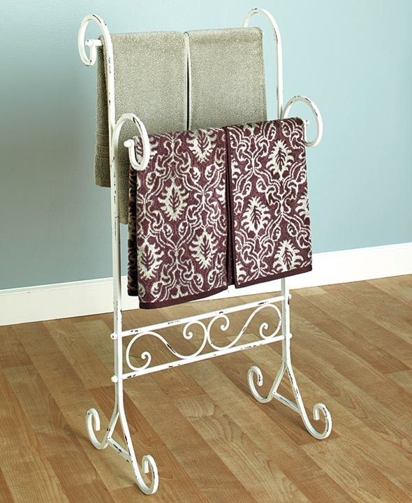 "Free Standing Towel Rack Vintage Bathroom Collection 18-1/2""W x 13""D x 38""H New #generic"