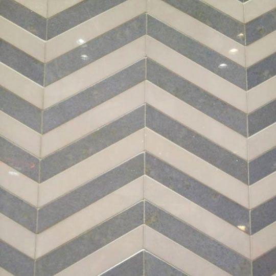 chevron bathroom tiles for Master bath.: Chevron Patterns, Tile Patterns, Apartment Therapy, Chevron Tile, Bath Tile, Chevron Bathroom, Chevron Backsplash, Artists Tile, Grey Chevron