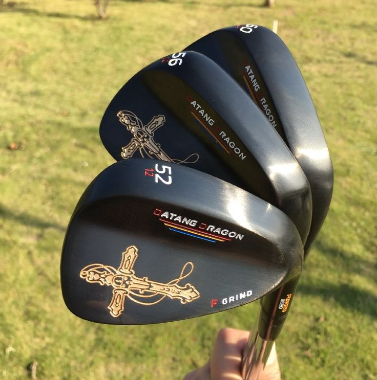 105.00$  Buy now - http://alivdu.shopchina.info/go.php?t=32805111940 - 2017 black golf wedges 52 56 60 degree with original S300 steel shaft golf clubs crucifix real forged wedges 105.00$ #magazine