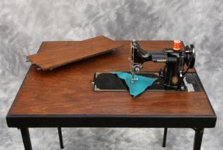 Singer Featherweight 221 Sewing Machine Folding Table Fabulous ...