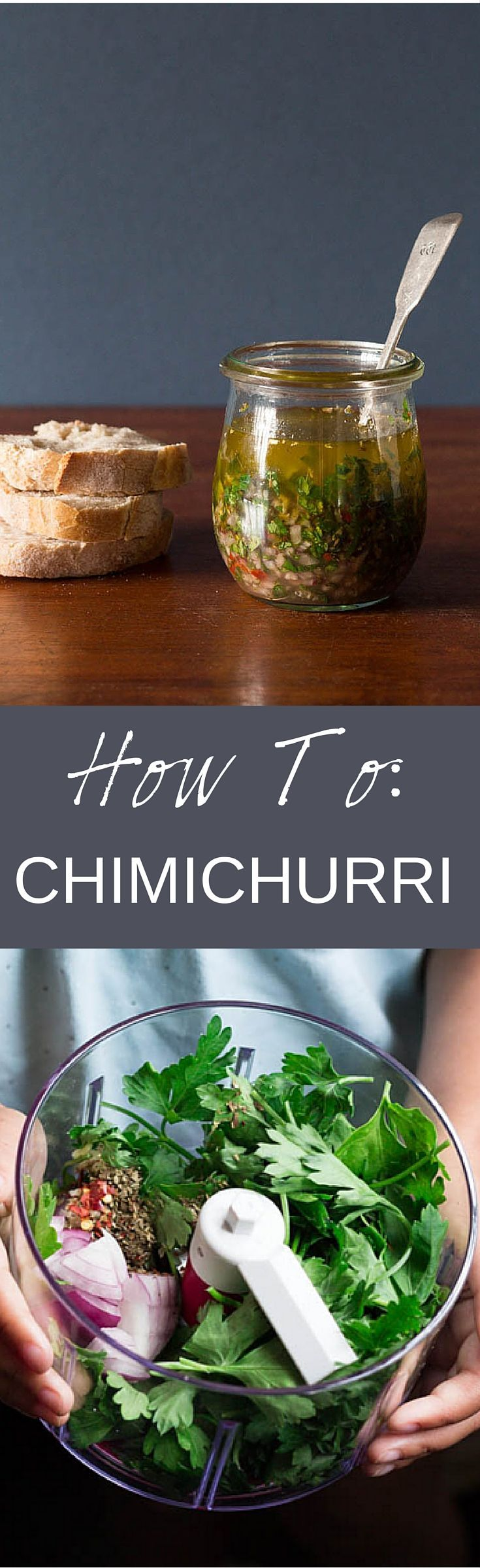 Chimichurri Recipe - Recipes From A Pantry. A quick guide on how to make chimichurri sauce which is perfect for grilled meat, fish and crusty bread. recipesfromapantry.com #Chimichurri