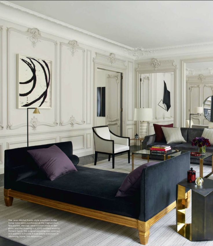 This Paris apartment has mixed the beautiful historical historical architectural detail and contemporary furnishings