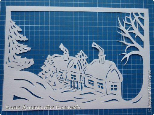 Давно носила в себе идею сделать туннель на тематику заснеженной деревеньки,  чтобы ощущалось рождественское настроение и домашнее тепло в засыпанных снегом домах. Вот и родилось сие творение!  Надеюсь, Вам понравится! фото 3