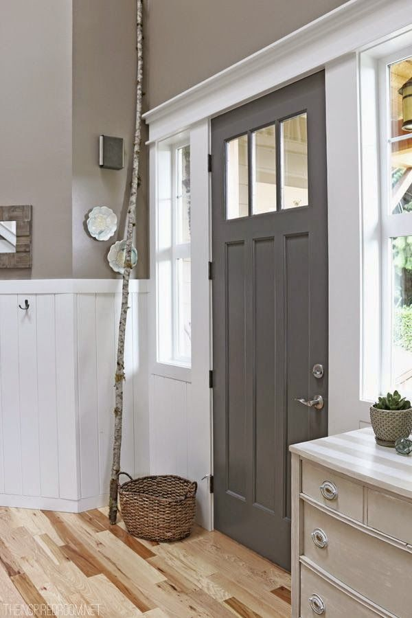 Best DIY Projects: Charcoal Painted Front Door - The Inspired Room