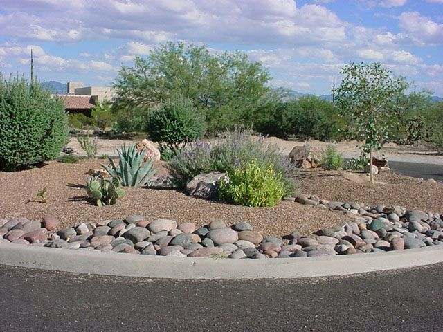 88 best rock landscaping ideas images on pinterest for Desert landscape design photos